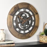 FirsTime & Co.® Wood Gear Wall Clock