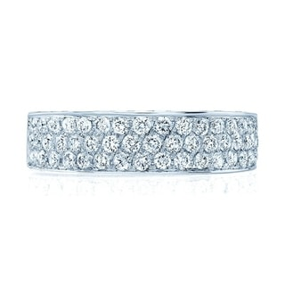 Micro Pave Diamond Ring In 14k White Gold (1 ct. t.w.), Size 7