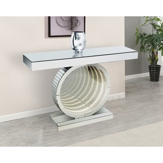 Best Quality Furniture Mirrored Console Table with LED Lights