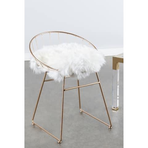 Statements By J Kylie Sheepskin 25 5 Inch Tall Chair