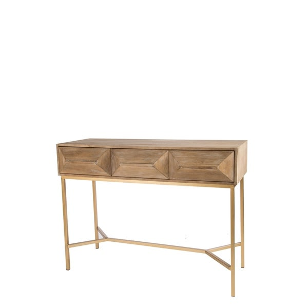 Statements By J Le Marais Console Table w/ 3 Drawers, 33.5 Inch Tall