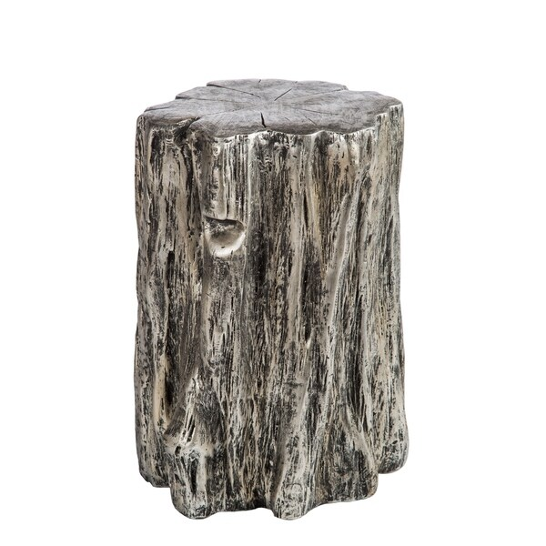 Shop Statements By J Silver Log Stool Side Table Free