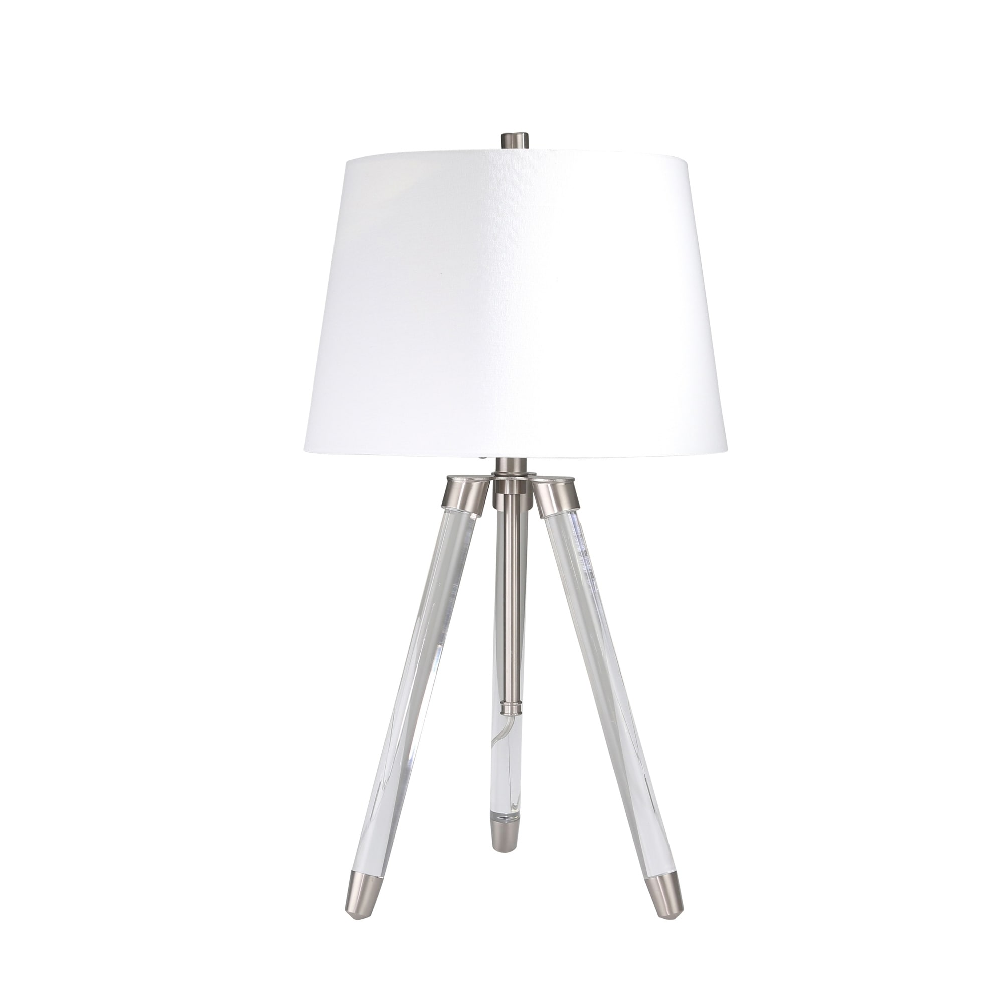 Shop Black Friday Deals On Acrylic Adjustable Tripod Table Lamp Clear Silver 31 On Sale Overstock 25623379
