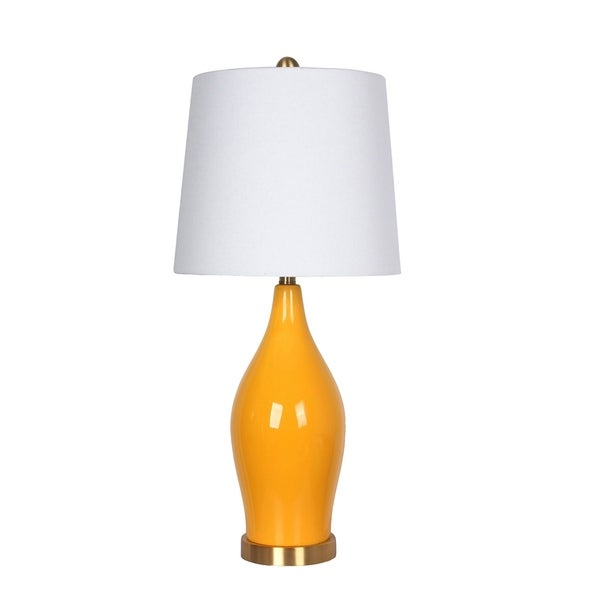 Shop Ceramic Table Lamp Usb Port Orange 31 Free Shipping Today
