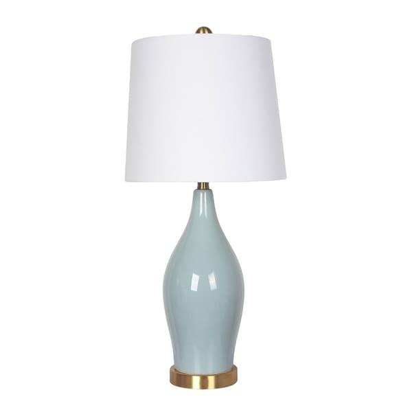 Shop Ceramic Table Lamp Usb Port Seafoam Green 31 Free Shipping