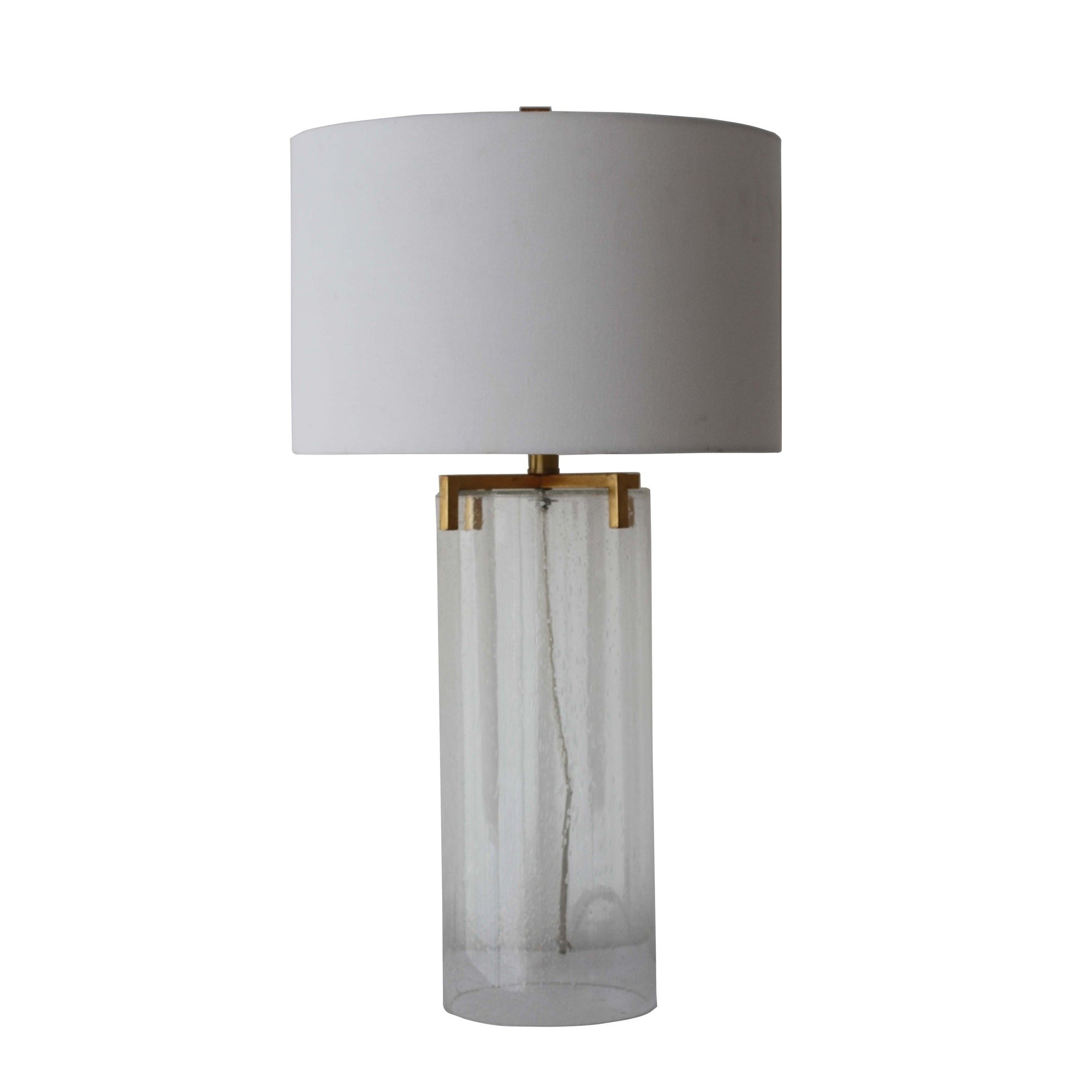 Picture of: Shop Seeded Glass Cylinder Table Lamp Clear 29 Overstock 25623641