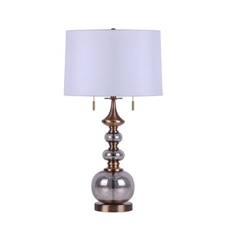 "Link to Glass Stacked Circles Table Lamp, Silver/Gold, 28"" Similar Items in Accent Pieces"