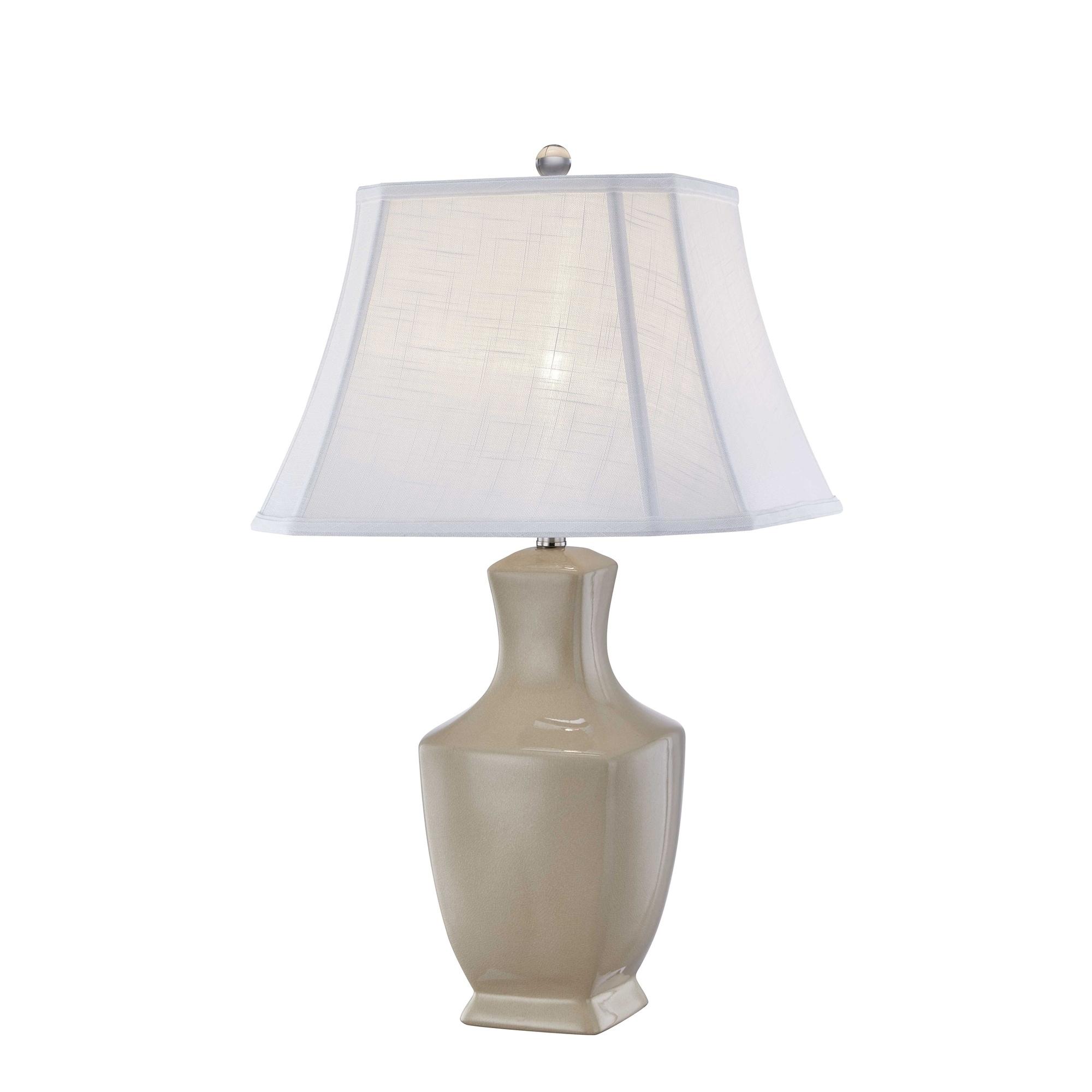 Picture of: Shop Ceramic Celadon Table Lamp Cream 31 On Sale Overstock 25623687