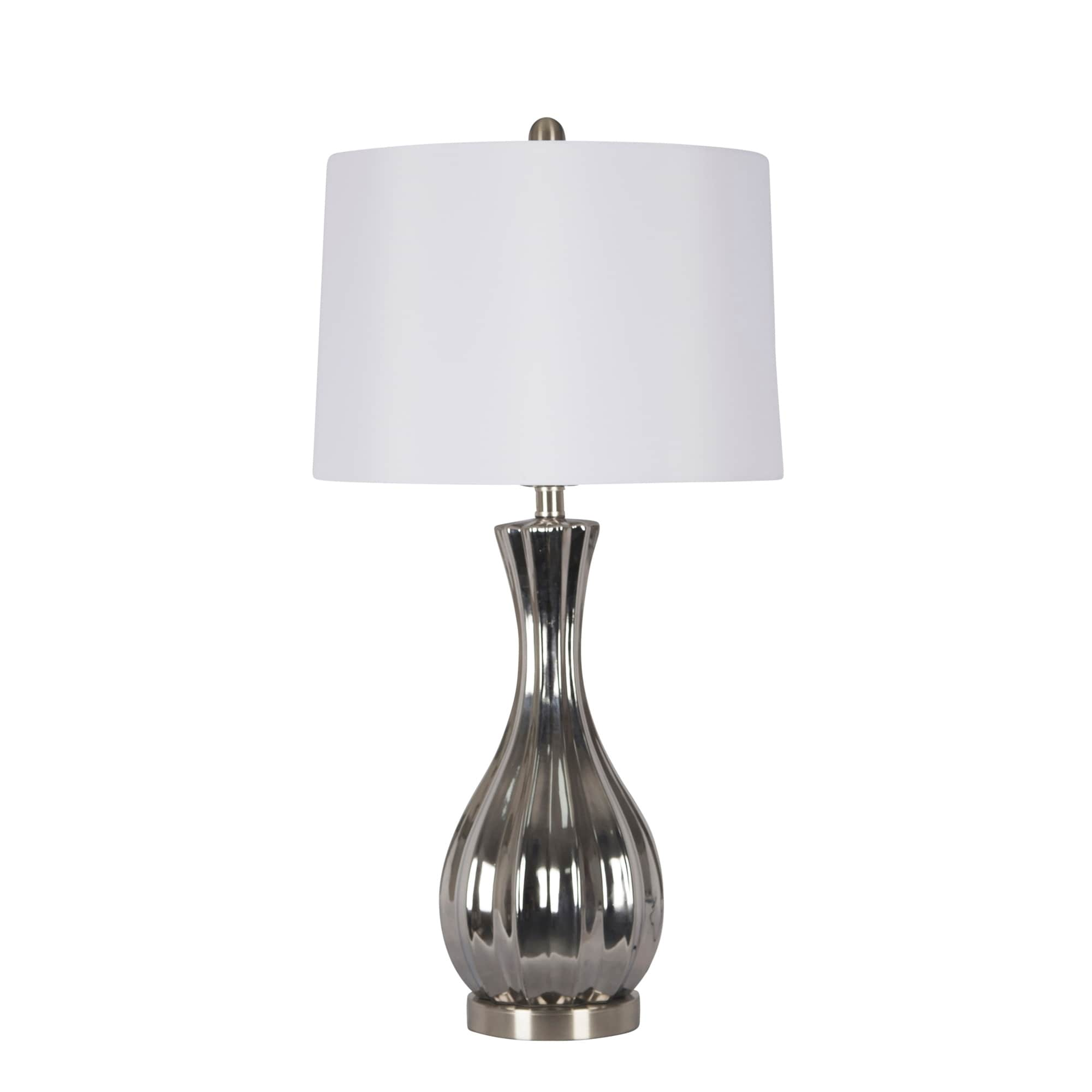 Shop Ceramic Table Lamp Silver 29 Overstock 25623734