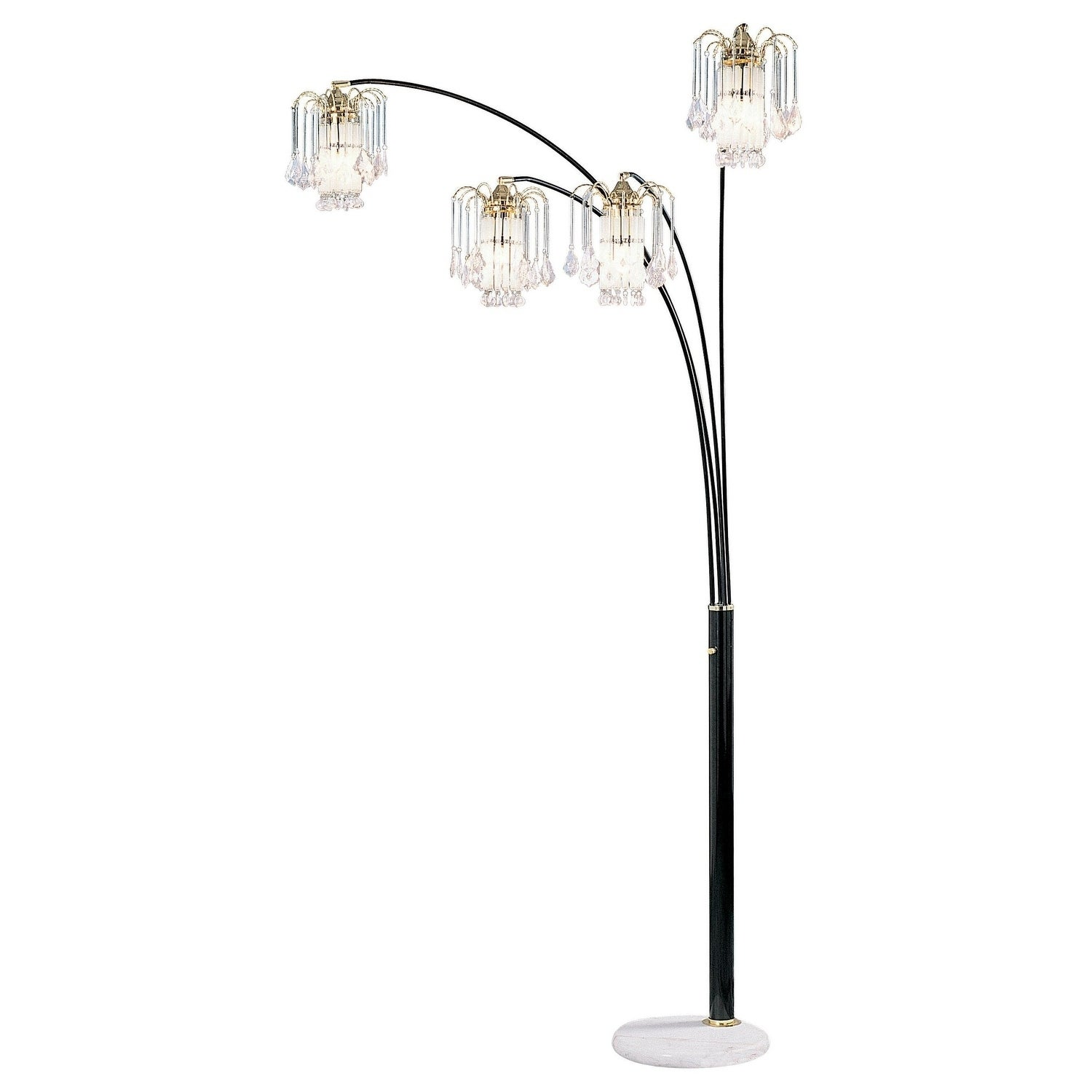 Shop Black Friday Deals On Blk 4 Arch Fl Lamp With Crystal Shade On Sale Overstock 25623839