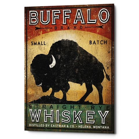 Carbon Loft 'Buffalo Whiskey' by Ryan Fowler on Giclee Canvas