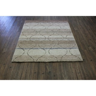 "Beige Contemporary 8x11 Area Rug - 7'6"" x 10'3"""