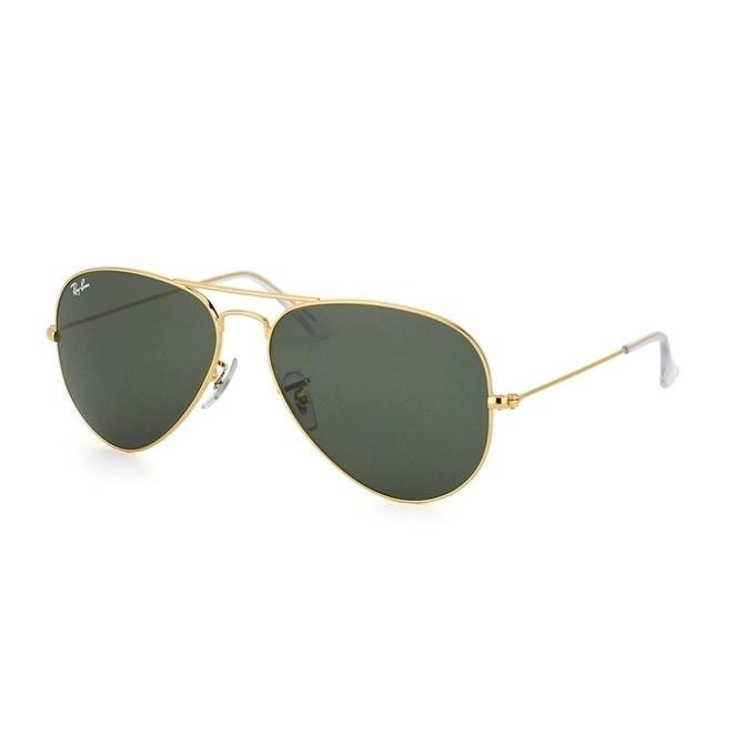 ray ban sunglasses aviator gold unisex rb3025 l0205