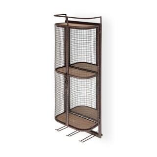 Mercana Saluti Brown Metal Wall-mounted Shelf