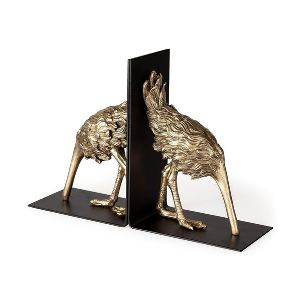 Mercana Ozzie Resin and Metal 2-piece Contemporary Bookends