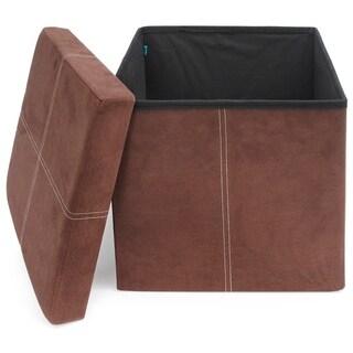 Fresh Home Elements Premium Ottomans, Convenient Hidden Storage, Folding Space Saving Design, Sturdy 200 lbs. Weight Limit