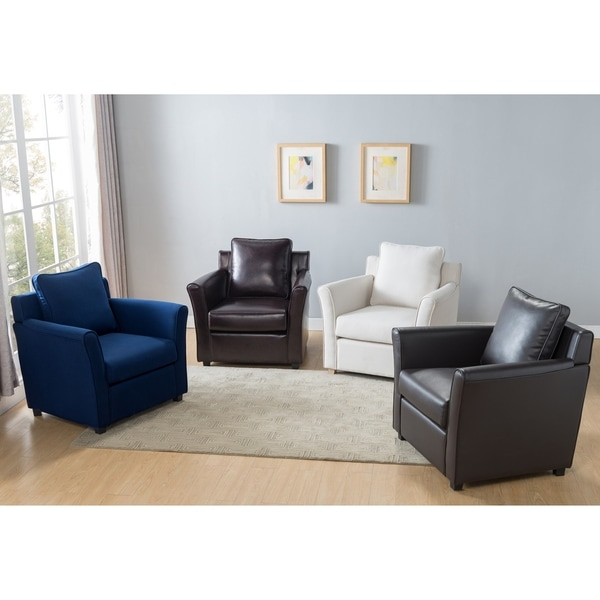 Furniture of America Golt Contemporary Faux Leather Padded Club Chair