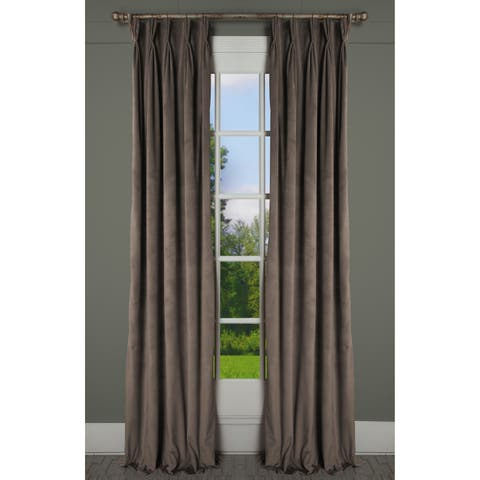 RT Dressings Milan Bronze Luxurious Velvet Pinch Pleat Single Curtain Panel