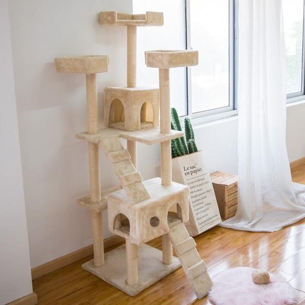 Kinbor Cat Tree Tower Condo Multi-level Kitten Furniture Activity Center