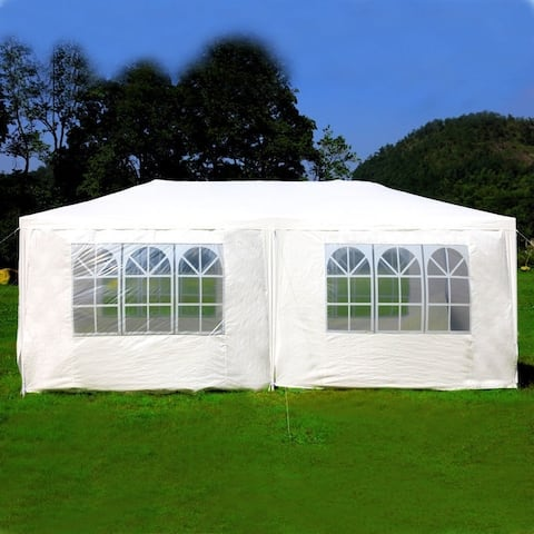 Mcombo 10'x20' Outdoor Canopy Wedding Party Tent 6 Removable Walls