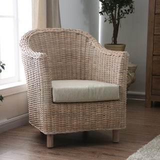 Link to Furniture of America Lali Transitional Kubu Rattan Wicker Armchair Similar Items in Living Room Chairs