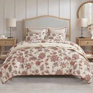 Madison Park Signature Victoria Queen Silvertone Upholstered Bed