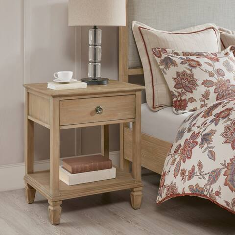 Madison Park Signature Victoria Light Natural Bedside Table