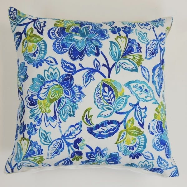 LR Home Floral Paisley Indoor/Outdoor Throw Pillow 18 inch