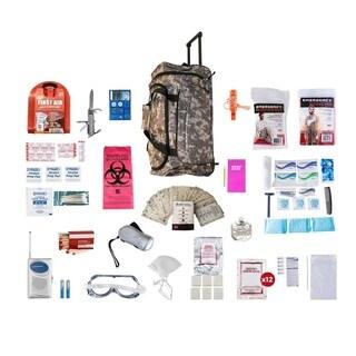 1 Person Deluxe Survival Kit (72 plus Hours) Camo Wheel Bag