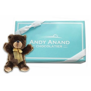 Andy Anand Dark Chocolate Gift Basket - Plush Teddy Bear 2 Pounds, Coffee Beans, Chocolate Almonds, Blueberries in Gift Basket