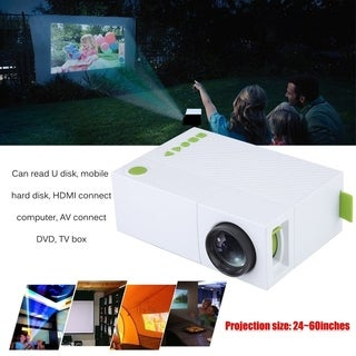 Portable Mini Home Theater Support Handheld Remote Control Projector YG310