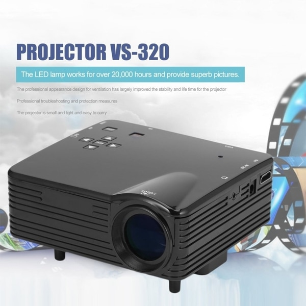 Hd Home Theater Multimedia Lcd Projector: Shop Home Cinema Multimedia LED LCD Projector VS-320 HD