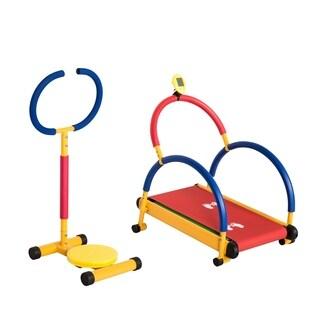 Kinbor Fitness Set Exercise Equipment for Kids Twister & Running Treadmill, Children's Day Birthday Gift