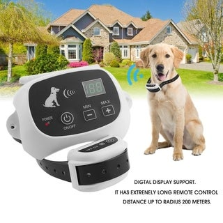 Rechargeable & Waterproof 1/2/3 Dog Fence No-Wire Pet Containment System - for 2 dogs