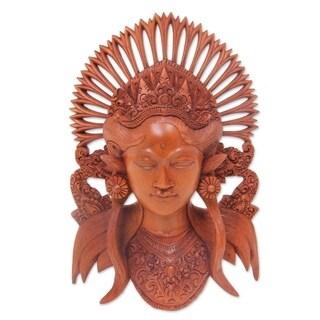 Handmade Balinese Muse Wood Sculpture (Indonesia)