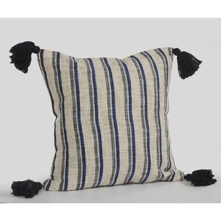 LR Home Double Striped Cottage Decorative Throw Pillow 18 inch