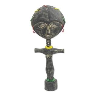 Handmade Ashanti Donkor Wood Fertility Doll (Ghana)