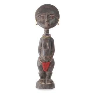 Handmade Ashanti Figure Wood Fertility Doll (Ghana)