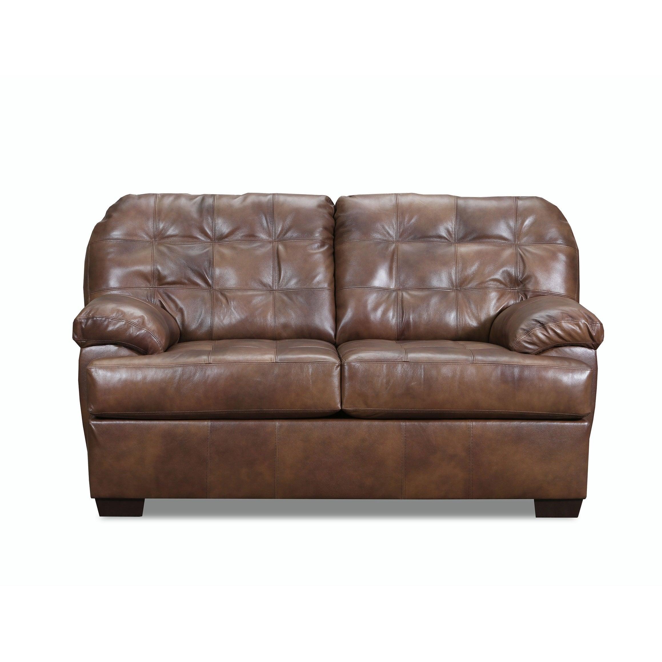 Surprising Flores Top Grain Leather Sofa And Loveseat Set Inzonedesignstudio Interior Chair Design Inzonedesignstudiocom