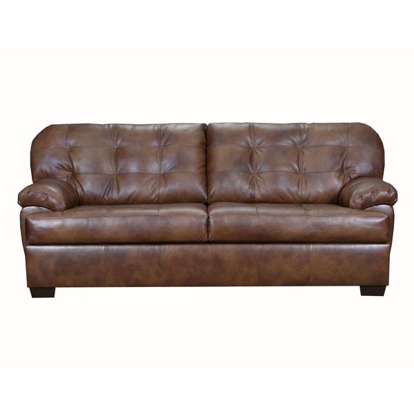 Shop Flores Top Grain Leather Sofa And Loveseat Set On Sale Free