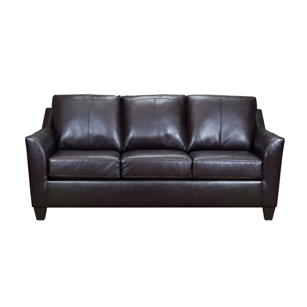 Shop Lance Top Grain Leather Queen Sleeper Sofa On Sale