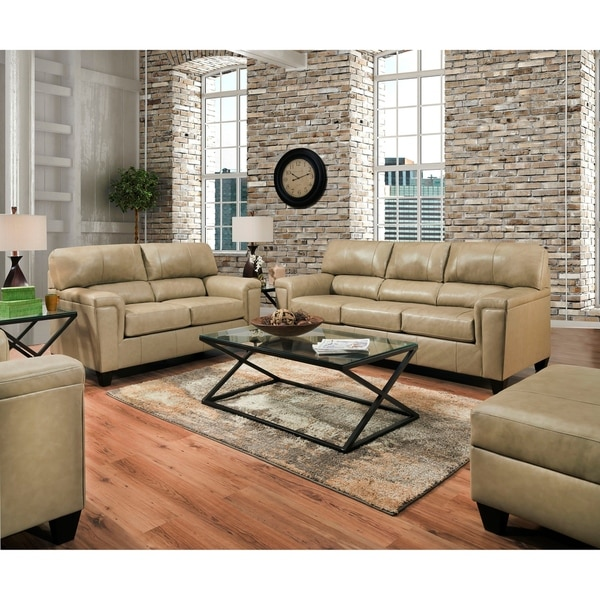 Shop David Top Grain Leather Sofa And Loveseat Set On Sale Free