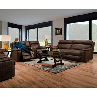 Arima Faux Leather Power Sofa and Loveseat Recliner Set