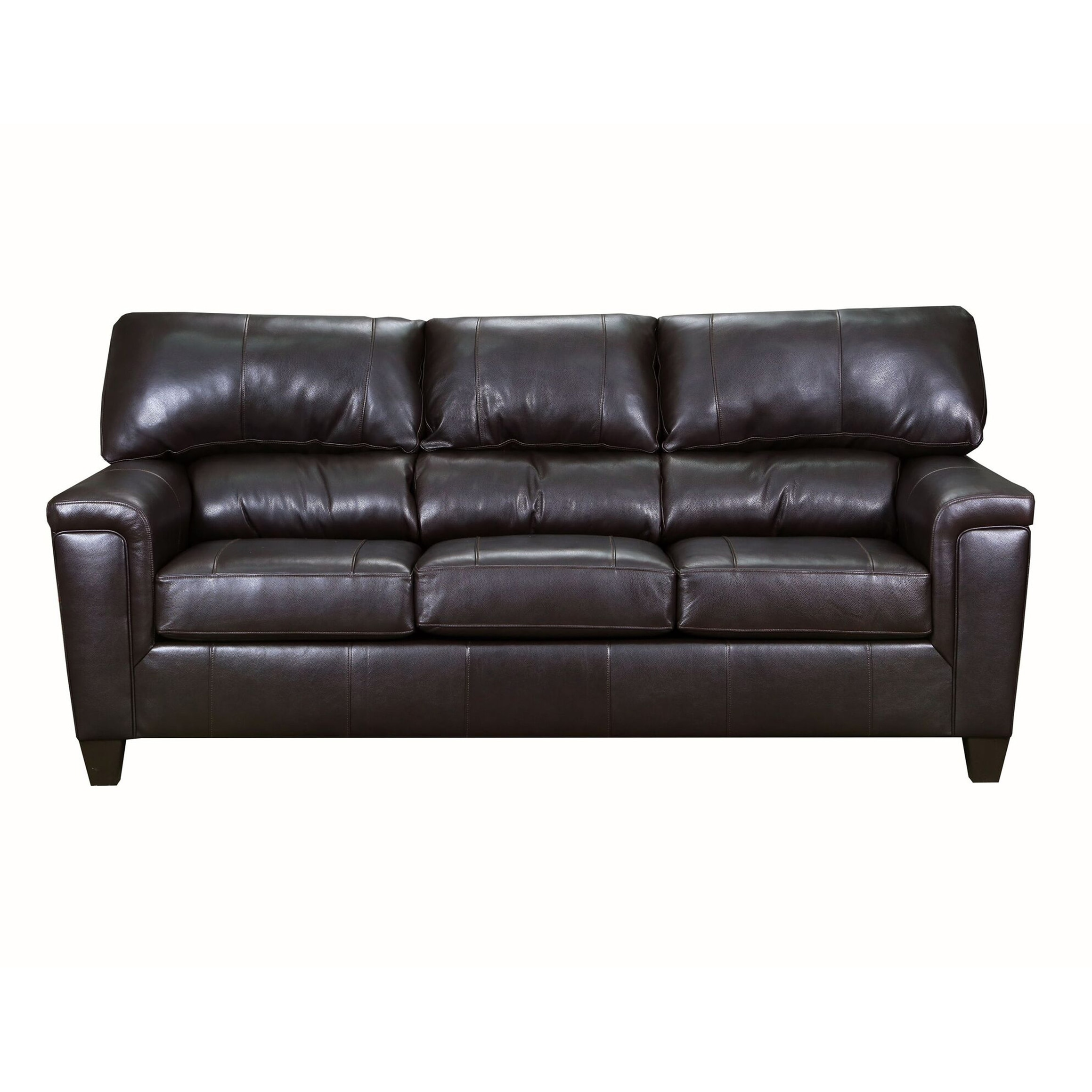 - Shop David Top Grain Leather Queen Sleeper Sofa - Overstock - 25627691