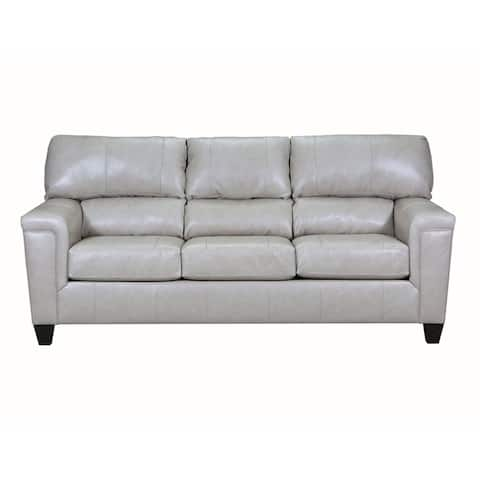 David Top Grain Leather Queen Sleeper Sofa