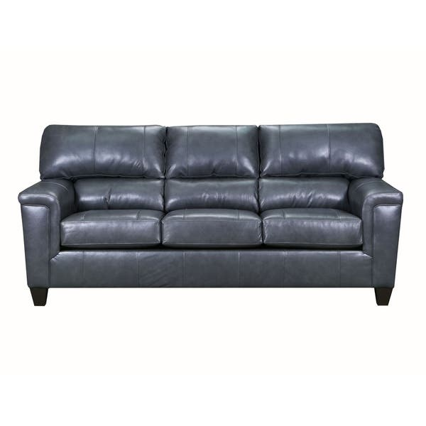 Shop David Top Grain Leather Queen Sleeper Sofa On Sale