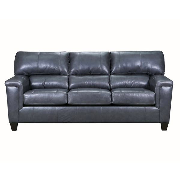 Shop David Top Grain Leather Queen Sleeper Sofa - On Sale ...
