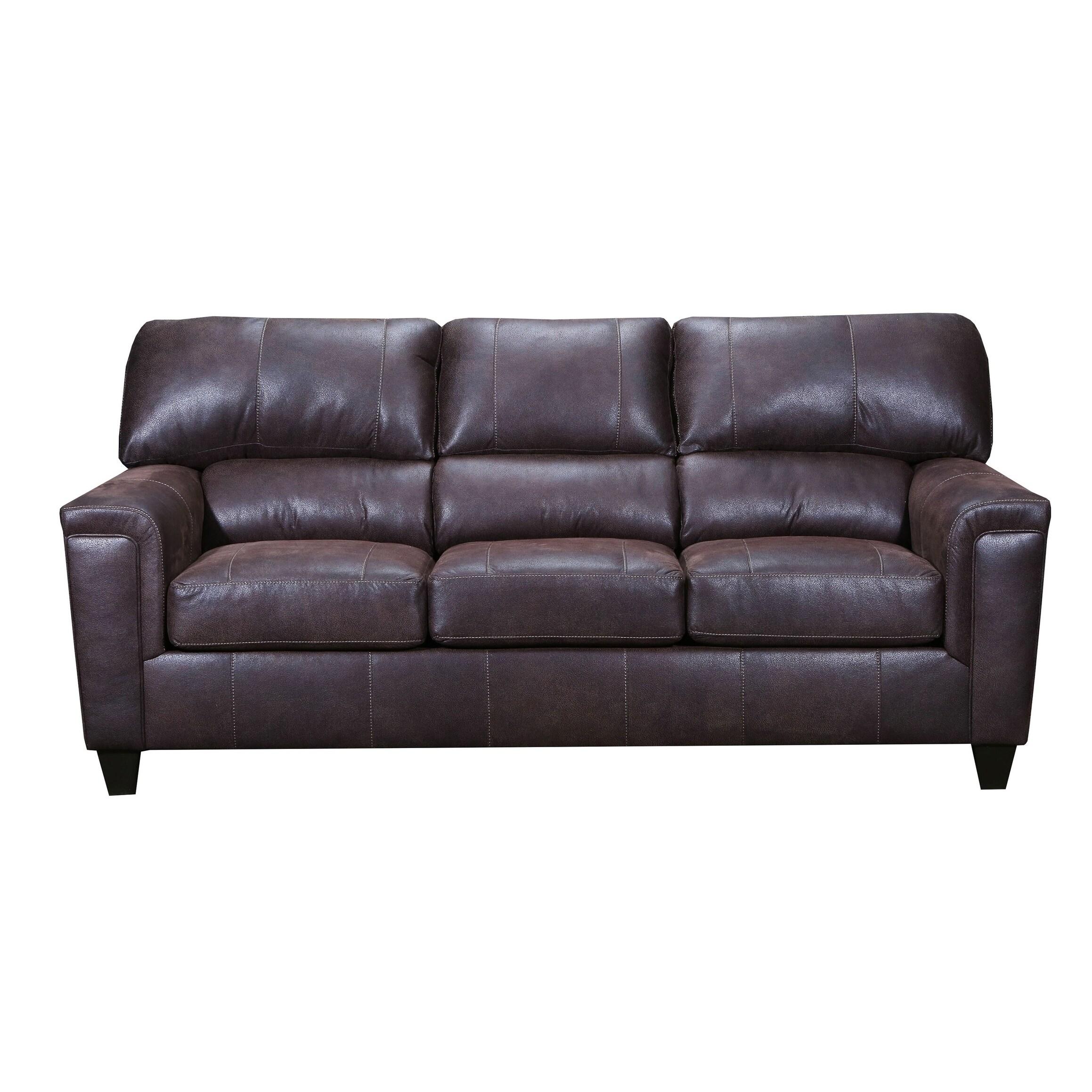 Moa Faux Leather Sofa