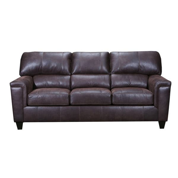 Pleasing Shop Moa Faux Leather Sofa On Sale Free Shipping Today Gmtry Best Dining Table And Chair Ideas Images Gmtryco