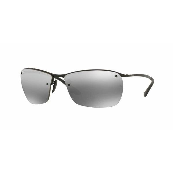 b9de3bcbb1 Ray Ban RB3544 Black Frame Polarized Silver Mirror Chromance 64mm Lens  Sunglasses